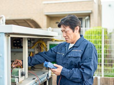 スタッフ全員が有資格者、電気工事許可を受けたプロフェッショナル